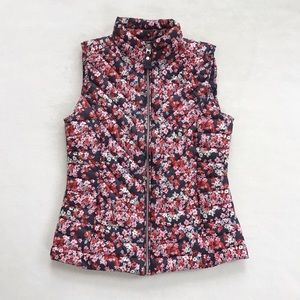 Joules Brindley Floral Quilted Puffer Vest, 6